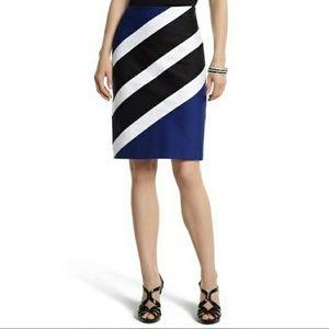 White House Black Market color-block skirt